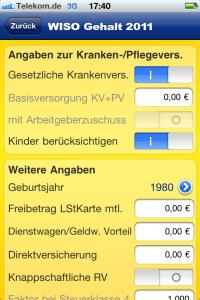 WISO Gehalts-App